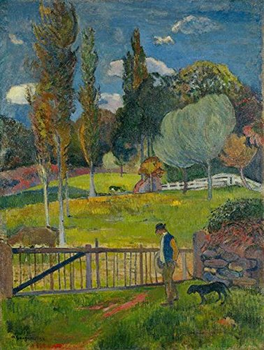 The High Quality Polyster Canvas Of Oil Painting 'Paul Gauguin,Landscape,1894' ,size: 10x13 Inch / 25x34 Cm ,this Reproductions Art Decorative Prints On Canvas Is Fit For Foyer Decor And Home Gallery Art And (Toddler Mossy Oak Flower Girl Dress)