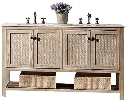 Etonnant Legion Furniture WH5160 Bathroom Vanity, 60u0026quot;, White Wash