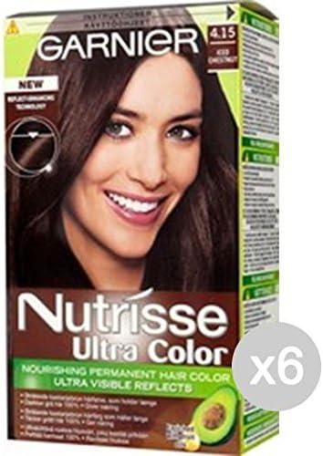 Juego 6 Nutrisse 4.15 Marron Glace tinta y color para cabello ...