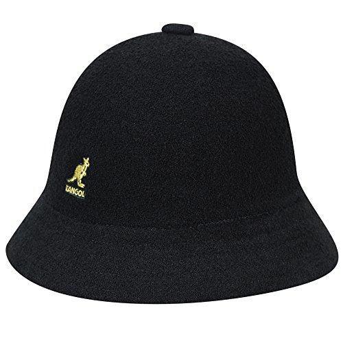 Kangol Men's Bermuda Casual Bucket Hat Classic Style, Black/Gold (X-Large)