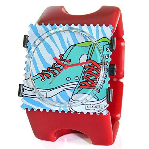 Stamps - elástico de reloj Stamps Belta rojo círculo - 4 cm: Amazon.es: Relojes