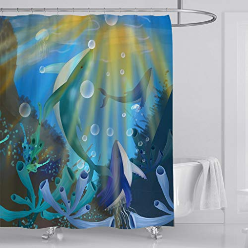 Fashion Style 3d Starfish Corals 7 Shower Curtain Waterproof Fiber Bathroom Windows Toilet To Enjoy High Reputation At Home And Abroad Bath Shower Curtains