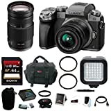 Panasonic LUMIX G7 Camera Kit (Silver) with 14-42mm and 100-300mm Lenses