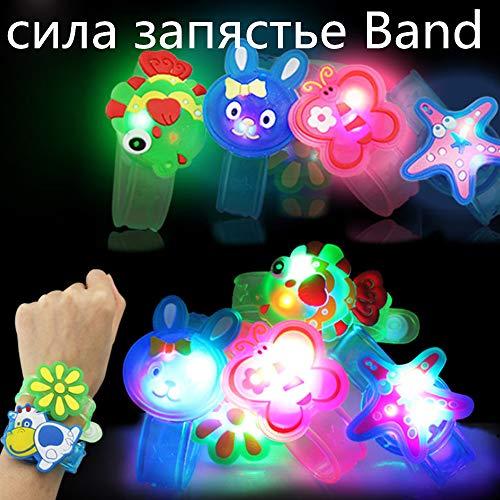 Wenini Kids Light Flash Toys Cartoon Animals Wrist Hand Take Dance Party Dinner Party Decor for Kids Gift Random (Random) by Wenini (Image #1)