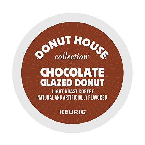 Donut House Collection Chocolate Glazed Donut Coffee Keurig K-Cup Pods, 18 count Chocolate Doughnut