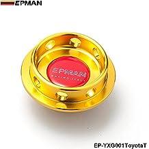 EPMAN Limited Edition Billet Aluminum Engine Oil Filter Cap Fuel Tank Cover Plug For Toyota (Gold)