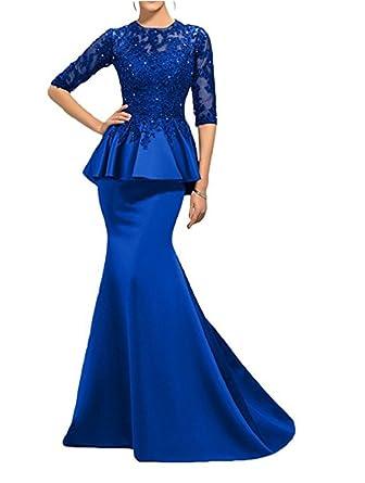 Alice Dressy Mermaid Abendkleider Ballkleider lang 3/4 Arm Spitze ...