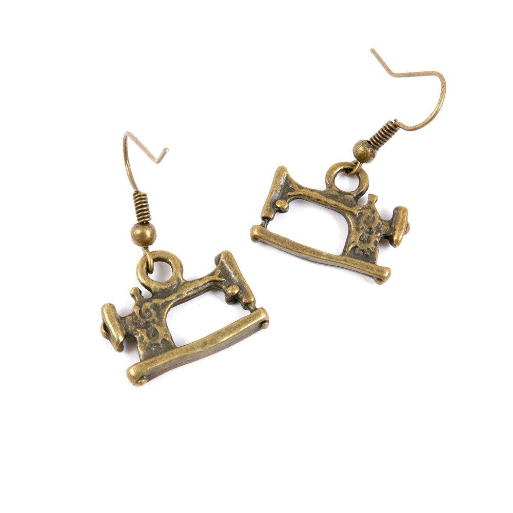 1 Pair Earring Jewelry Making Charms Antique Bronze Findings Hooks Supplies Wholesale Supply Handmade V2UY4 Sewing machine ChinaTownUS