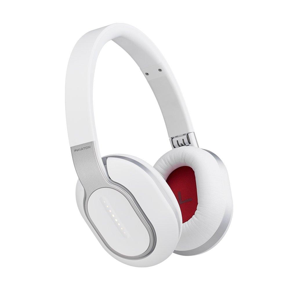 Phiaton Bluetooth BT 460 Wireless Touch Interface Premium Headphones Mic (White)