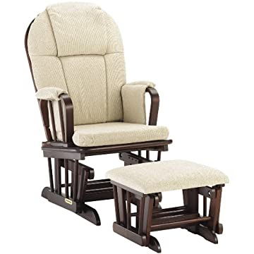 Shermag Glider Rocker Combo, Cherry with Beige Chenille