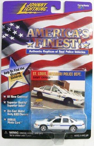Police Car Caprice - Johnny Lightning America's Finest St. Louis Missouri Police Dept. 1995 Chevy Caprice Police Car MOMC