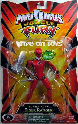 Power Rangers Jungle Fury 6 Inch Tall Figure with Action Sou