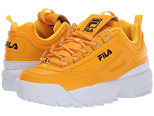 Fila Women's Disruptor II Premium Gold Fusion/Black/White 5 B US