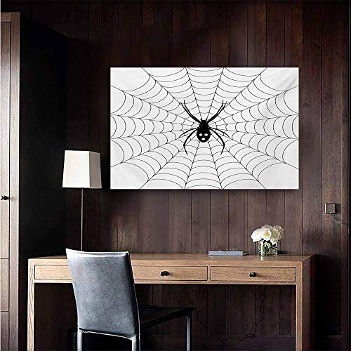 duommhome Spider Web Art Oil Paintings Poisonous Bug Venom Thread Circular Cobweb Arachnid Cartoon Halloween Icon Canvas Prints for Home Decorations 20