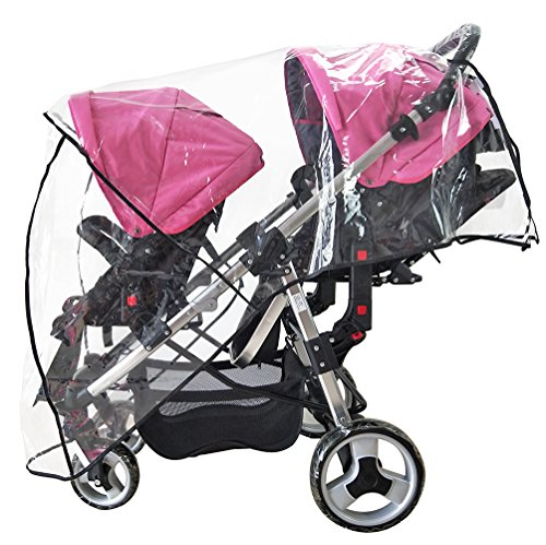 Weather Shield Double Stroller Rain Cover Twin Tandem Universal Size Baby Toddler Wind Shield Deal P - http://coolthings.us
