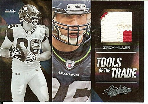 Football NFL 2012 Absolute Tools of the Trade Black Prime Materials #45 Zach Miller MEM 2/3 Seahawks by