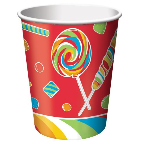 8-Count 9-Ounce Hot/Cold Beverage Cups, Sugar Buzz
