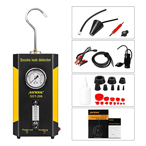 AUTOOL Vehicle Boat Conduit Pipe System Smoke Leak Detecting Tester Diagnostic Machine with Flowmeter Pressure Guage by AUTOOL (Image #6)