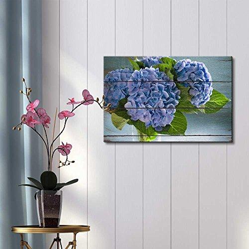 Purple Blossoms on Green Leaves Rustic Floral Arrangements Pastels Colorful Beautiful Wood Grain Antique