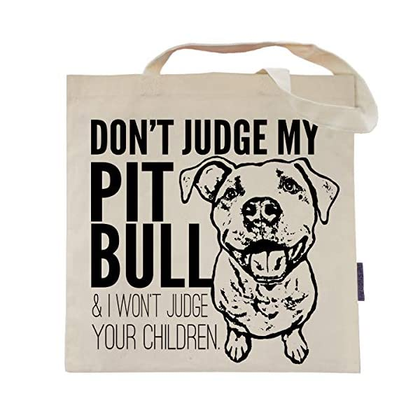 Don't Judge My Dog Tote Bag by Pet Studio Art 1