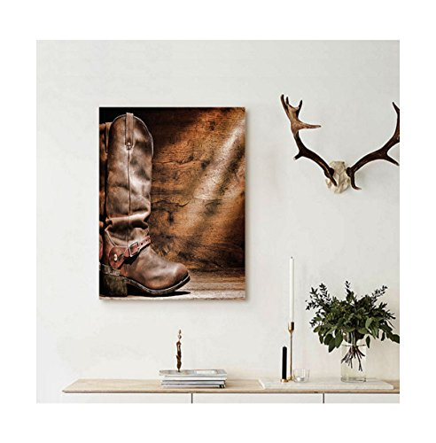 Liguo88 Custom canvas Western Decor Old Leather Working Rope