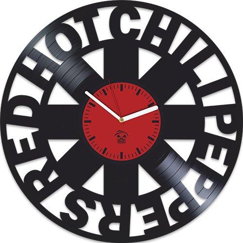 Kovides Red Hot Chili Peppers, Rock Band Music, Vinyl Record Best Gift For Dad Mom Grandpa Grandma Boy Girl Vinyl Wall Clock Home Decoration Living Room Inspirational, Vinyl Wall Clock Silent