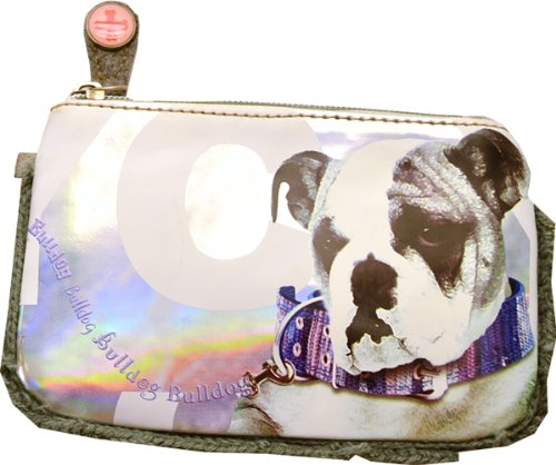 Fuzzy Nation Flat Wristlet Buldog Winter