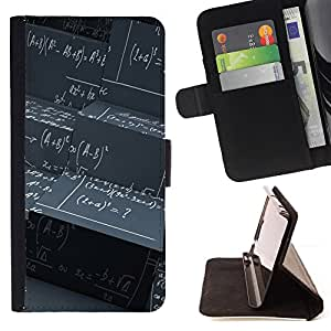 DEVIL CASE - FOR Samsung Galaxy S5 V SM-G900 - Maths Black Board Calculation Formula Art - Style PU Leather Case Wallet Flip Stand Flap Closure Cover