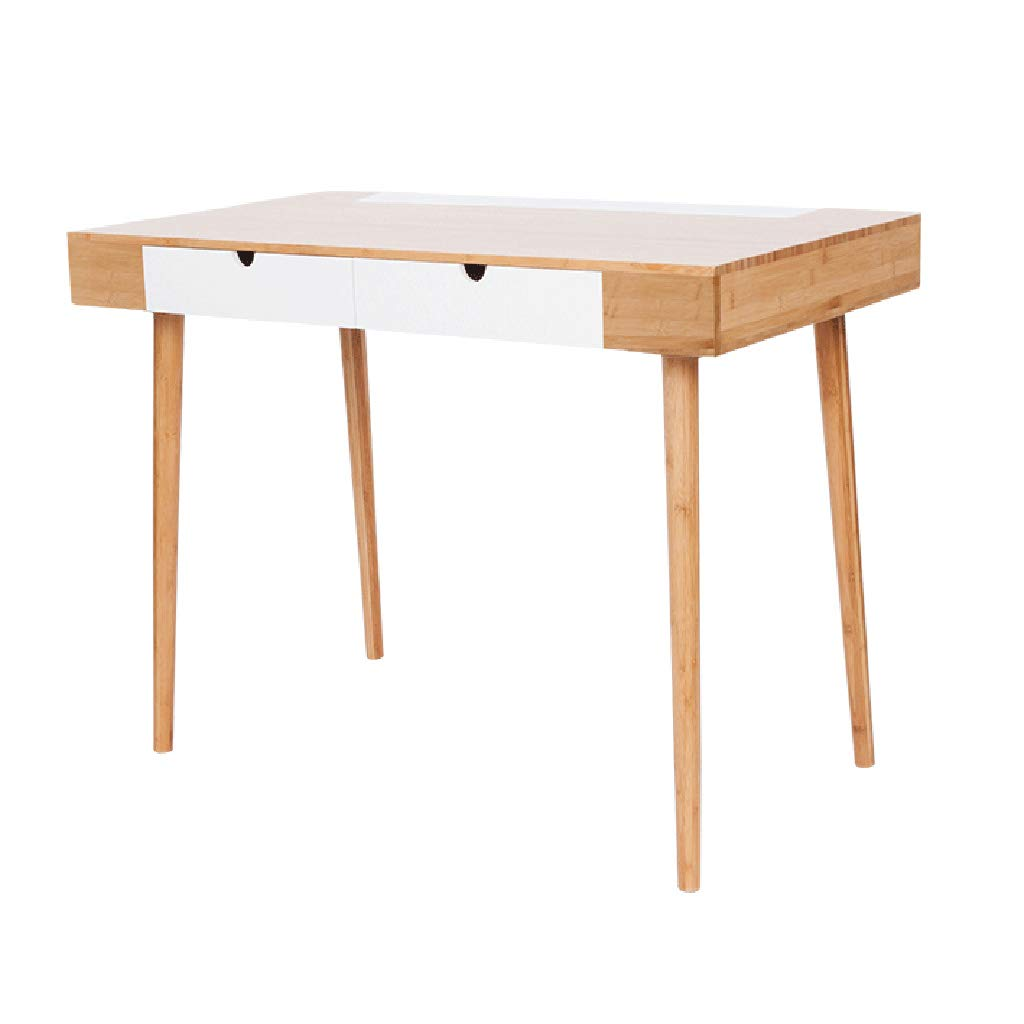 Tisch und Stuhl Schreibtischschublade kreativer Desktop-Computer Schreibtisch Schreibtisch Schreibtisch Schlafzimmer Schreibtisch (Color : Brown, Size : 102 * 58.5 * 77.5CM)