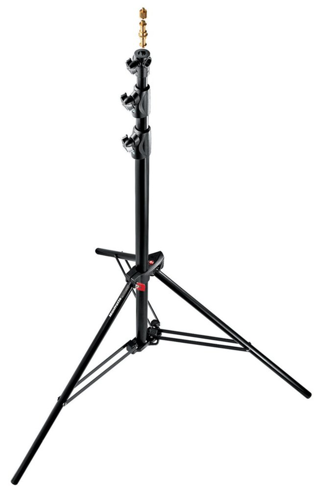 3-Pack Manfrotto 1005BAC-3 9-Feet Alu Ranker Stand AC with 3 Section and 2 Risers Black
