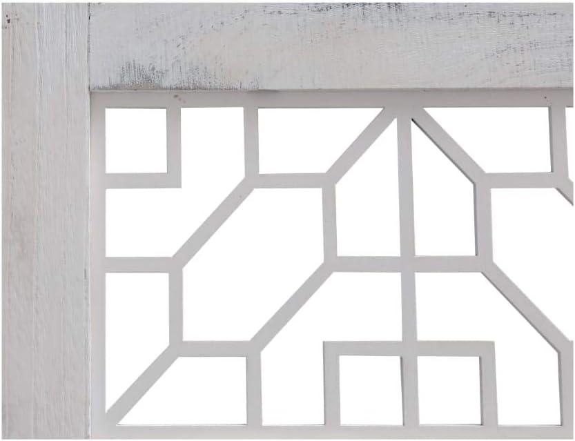 -con 5 Pannelli Pieghevoli Lechnical Pratica Parete divisoria Interna Larghezza x Altezza Divisorio in Legno di paulonia e MDF Grigio e Bianco in Stile Contemporaneo 175 x 165 cm