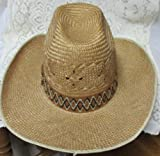 Straw Western Gallon Cowboy Hat Size 7 21and 1/4