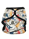 Best Blueberry Bottom Cloth Diaper Covers - BB2 Baby One Size Printed Black Gussets Snaps Review