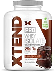 Scivation XTEND Pro Protein Powder   100% Whey Protein Isolate   Keto Friendly + 7g BCAAs with Natural Flavors   Gluten Free Low Fat Post Workout Drink   5lbs Chocolate Lava Cake (Pack of 1) 80 Ounce