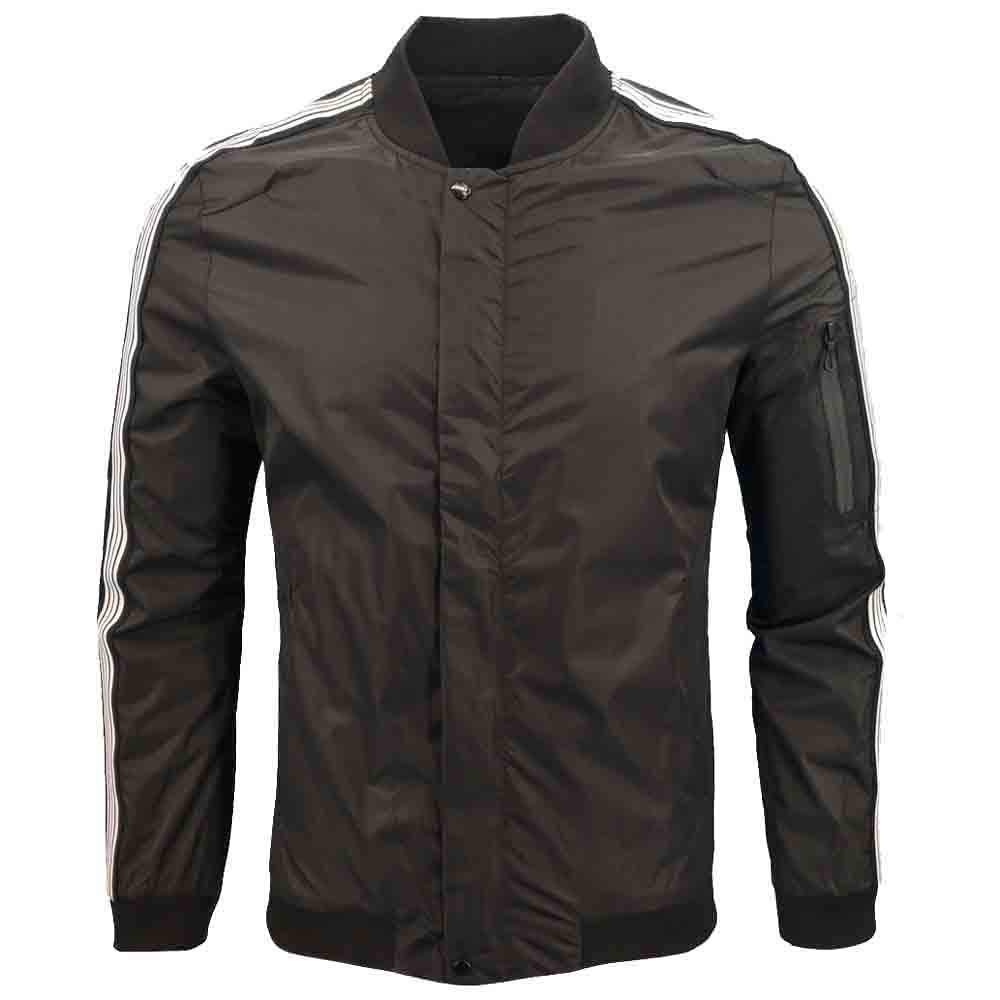 Dacawin Men's Winter Coat Sale Long Sleeve Zipper Casual Sport Jacket Baseball Uniform