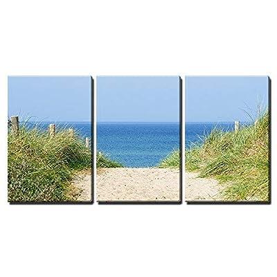 Dune at The Ocean x3 Panels - Canvas Art