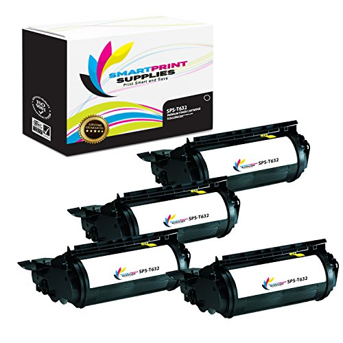 Smart Print Supplies Compatible 12A7365 Black High Yield Toner Cartridge Replacement for Lexmark Optra T630 T632 T634 Printers (32,000 Pages) - 4 Pack