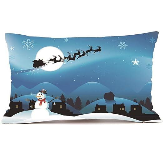 smileq Navidad Rectángulo fundas de almohada, funda para ...
