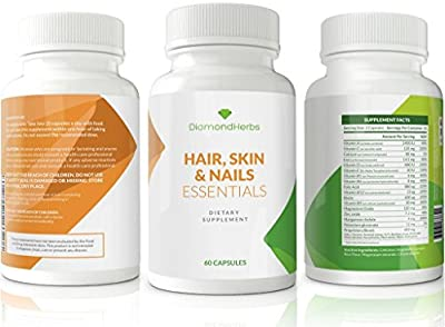 Hair Skin and Nails Vitamins + Biotin DiamondHerbs