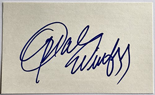 - Oprah Winfrey signed index card autographed 3x5 psa dna coa