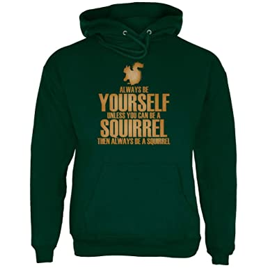 Old Glory Always Be Yourself Squirrel Mens Sweatshirt
