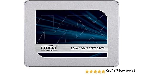 Crucial MX500 1TB 3D NAND SATA 2.5 Inch Internal SSD, up to 560MB/s - CT1000MX500SSD1(Z)