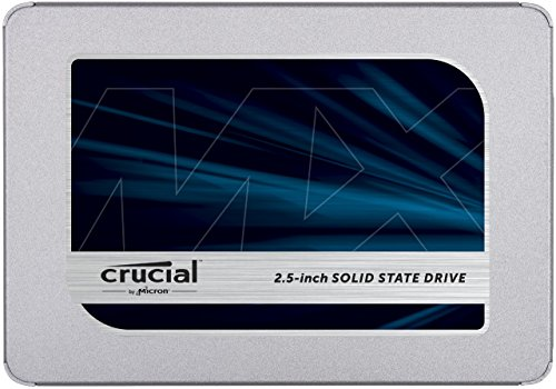 Crucial MX500 250GB 3D NAND SATA 2.5 Inch Internal SSD - CT250MX500SSD1(Z) 140 Retail Combo Pack