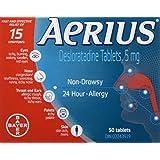 Aerius Allergy Medicine, 5mg, 50 Count