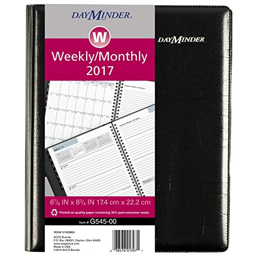 2017 Executive Calendar - DayMinder Weekly / Monthly Planner 2017, Executive, 6-7/8 x 8-3/4