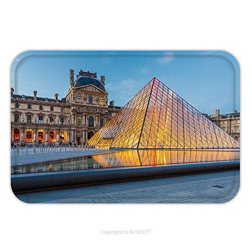 [Flannel Microfiber Non-slip Rubber Backing Soft Absorbent Doormat Mat Rug Carpet Paris France May The Louvre Museum In Paris Is One Of The World S Largest Museums And 338988182 for Indoor/Outdoor/Bath] (Museum Of Costume Paris)