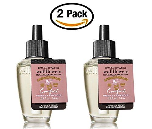 Bath and Body Works Aromatherapy Comfort Vanilla Patchouli Wallflowers 2-Pack Refills (1.6 fl Oz Total) by Bath & Body Works