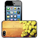 retro 5s grape - Liili Apple iPhone 5 iPhone 5S Aluminum Backplate Bumper Snap iphone5/5s Case Retro style grunge background grapes on wooden vintage board Photo 21197549