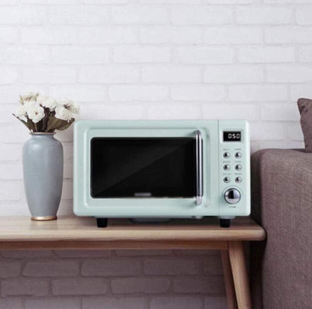 LJXWH Microonda, Horno de Calentamiento casa multifunción, pequeño Mini Calentador Inteligente, microondas Plana Horno for la Cocina/Restaurante/Hotel/consultorio/Hospital (Color : Green)
