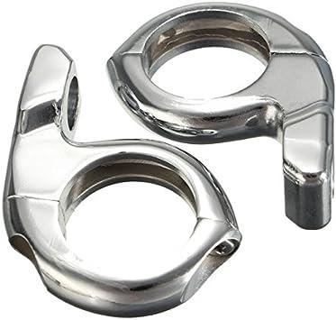 Noir Gazechimp 2X Clignotant Guidon Support Adaptateur de R/étroviseur Motos Accessoire